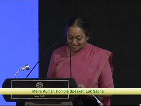 Lok Sabha Speaker Meira Kumar inaugurating India Cambridge Summit.