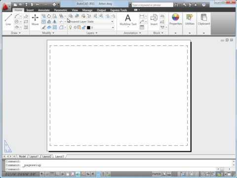 AutoCAD Plotting Tutorial. Plot a Drawing Layout in AutoCAD 2011