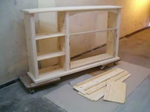 Fabrication d 39 un meuble sans grosse machine youtube - Meuble salle de bain en pin ...
