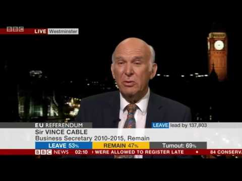 Vince Cable -  'This referendum was a very bad call'