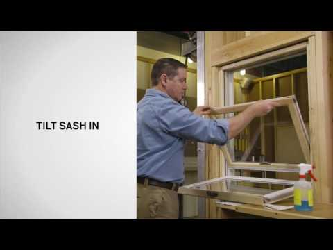 How to Tilt Andersen® 400 Series Woodwright® Double-Hung Windows for Cleaning