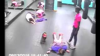 CCTV Footage - Hardcore Gym Instructors :)