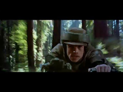 Star Wars - Return of The Jedi (1983) - Speeder Bike Chase (Napisy PL)