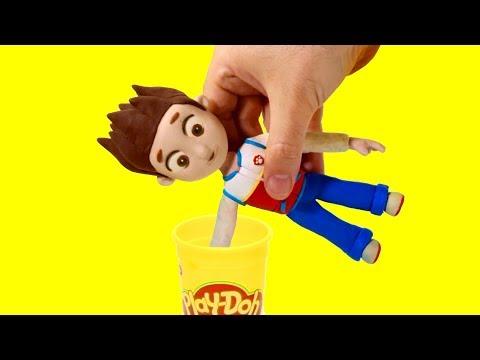 Paw Patrol Ryder Dress up stop motion play doh superhero cartoon for children