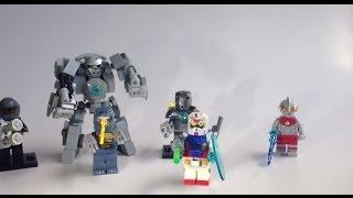 LEGO Cosplay 1,Gundam,Monger, IronMK1,Godzilla ,Ultranman custom moc