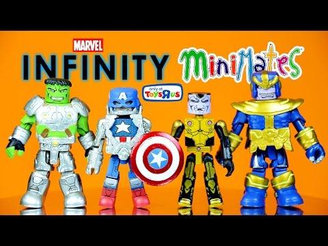 Marvel Minimates Infinity 4-Pack with Captain America Hulk Thanos & Thane ToysRUs Exclusive