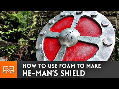 He-Man's Shield from floor mats // How-To