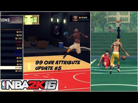 NBA 2K16  NEW 99 OVR PG ATTRIBUTE UPDATE   Best Signature Styles #5 - Prettyboyfredo