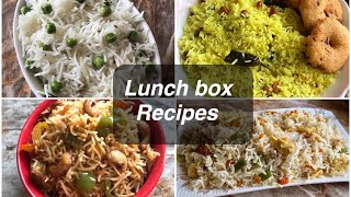 4 easy lunch box recipes | 4 easy and tasty rice recipes