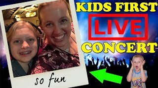 Kids React to Going to Their First Concert!    Mommy Monday