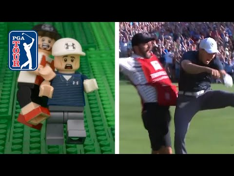 LEGO Jordan Spieth's bunker hole-out to win 2017 Travelers