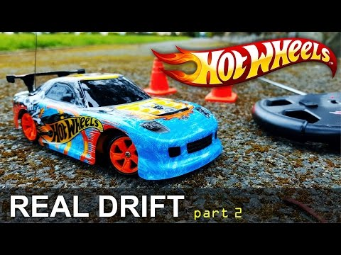 Hot Wheels Real Drift Radio Control Car | Test Drive Different Surfaces | Matell
