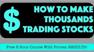 How To Make $1,000 Trading Stocks | $IQ