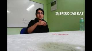 TABARAK FATHIMA  , Deputy Superintendent of police (Rank 13, KAS 2014) mock interview at INSPIRO