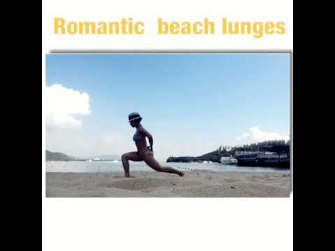 Functional training: lunges on sand