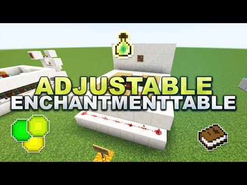 Minecraft -  Compact adjustable Enchantment Table / Verzauberungstisch - Tutorial 1.8