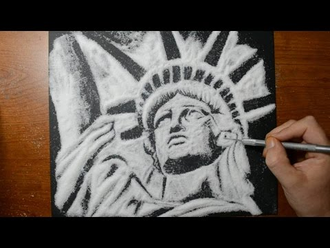 Drawing the Statue of Liberty with Sugar