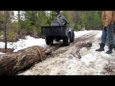 Log pull with atv and two snatchblocks
