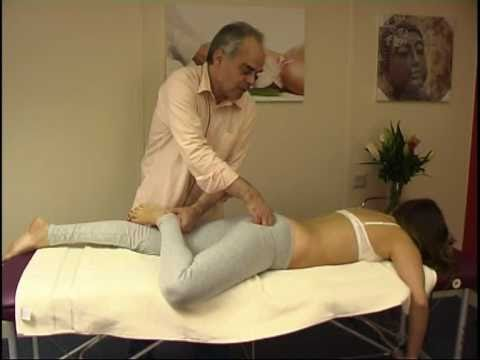 Asian massage techniques on table: legs 3