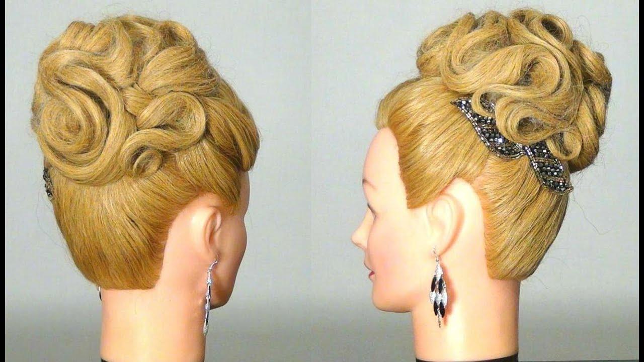 Сеточка для волос прически