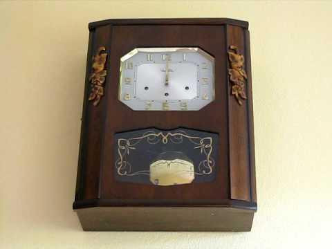 vedette westminster chime wall clock youtube. Black Bedroom Furniture Sets. Home Design Ideas