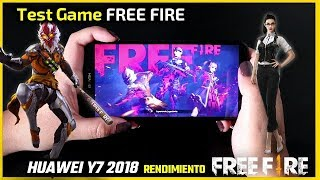 Test Game Free Fire en HUAWEI Y7 2018 | Prueba de rendimiento