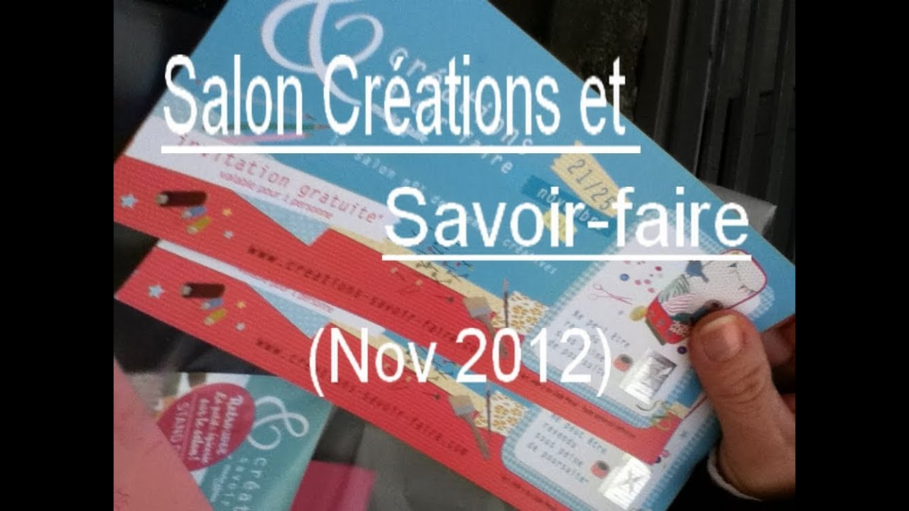vlog salon cr ations et savoir faire 21 11 12 youtube. Black Bedroom Furniture Sets. Home Design Ideas