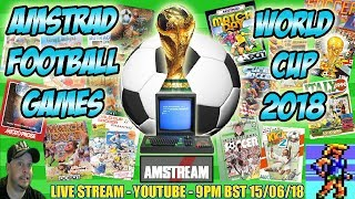 AMSTRAD CPC Amstrad Football Soccer Games World Cup! AMSTREAM Xyphoe Live Stream