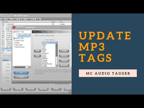 How to update mp3 tags with MC Audio Tagger | tutorial by TechyV