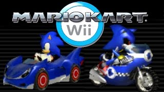 Mario Kart Wii Mods: Sonic and Metal Sonic