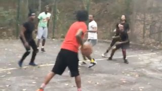 Migos Play Basketball In Backyard Of Trap Quavo Got Hella Game Eurosteps On Everyone