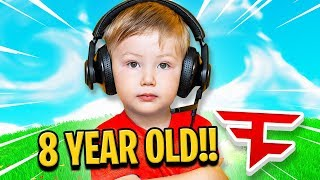 8 YEAR OLD KID JOINS FAZE CLAN IF HE WINS FORTNITE