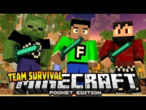 TEAM SURVIVAL GAMES 0.14.0!!! - Funny Moments W/Friends - Minecraft PE (Pocket Edition)