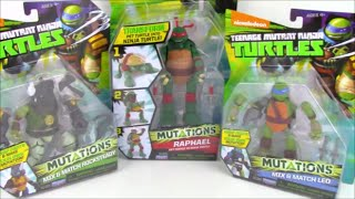 TMNT Ninja Turtle Toy MutationsMix and Match Review and Surprise