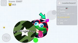 "Agar.io Mobile AFK TROLLING ""INSANE MASS PILE"" + DESTROYING TEAMS SOLO"
