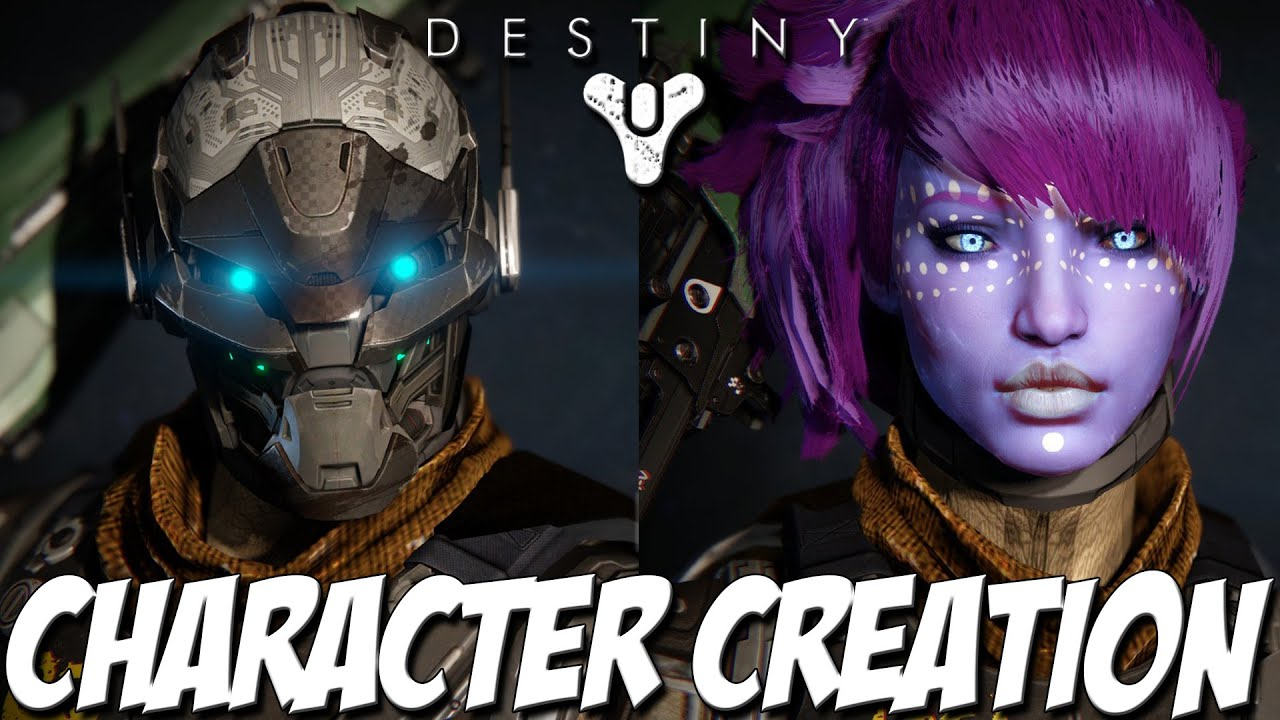 Destiny Character Creation  All Races, and Classes  Destiny Gameplay
