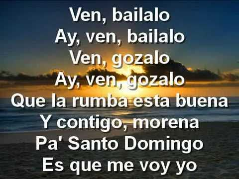 Ven Bailalo - Angel y Khriz Lyrics