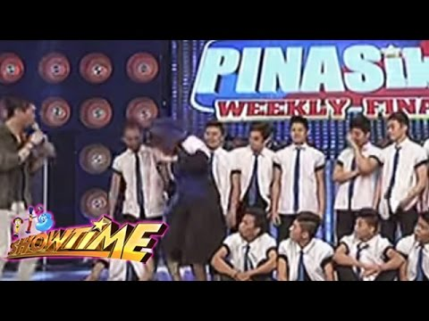 Vice Ganda Almost Fell On Showtime Stage video
