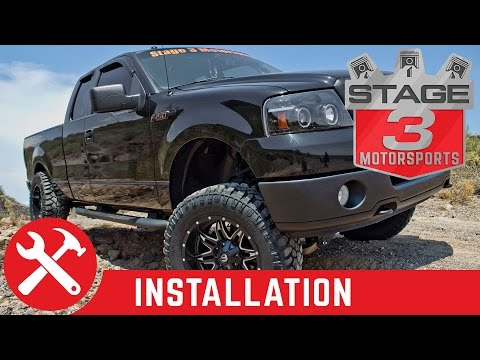 2004-2008 F-150 4WD Zone Offroad 6 inch Lift Kit Install