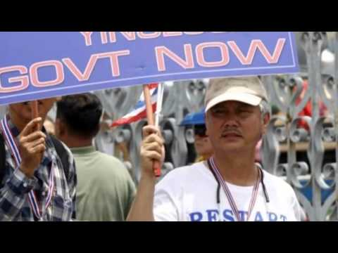 Thailand Protests Anti Government March In Bangkok   29 Mar 2014 MUST SEE