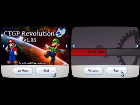 Mario Kart Wii - CTGP Revolution Channel vs Riivolution - The speed test :P