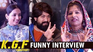 KGF Movie Team Funny Interview With Mangli | Yash, Srinidhi Shetty ,Prashanth Neel #KGFMovie