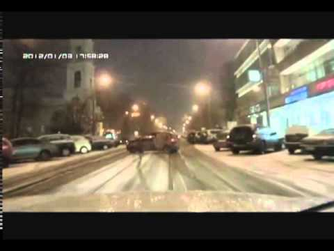 Подборка видео аварий. Зима 2012 год