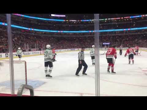 Blackhawks vs Stars Game Action 2/24/19