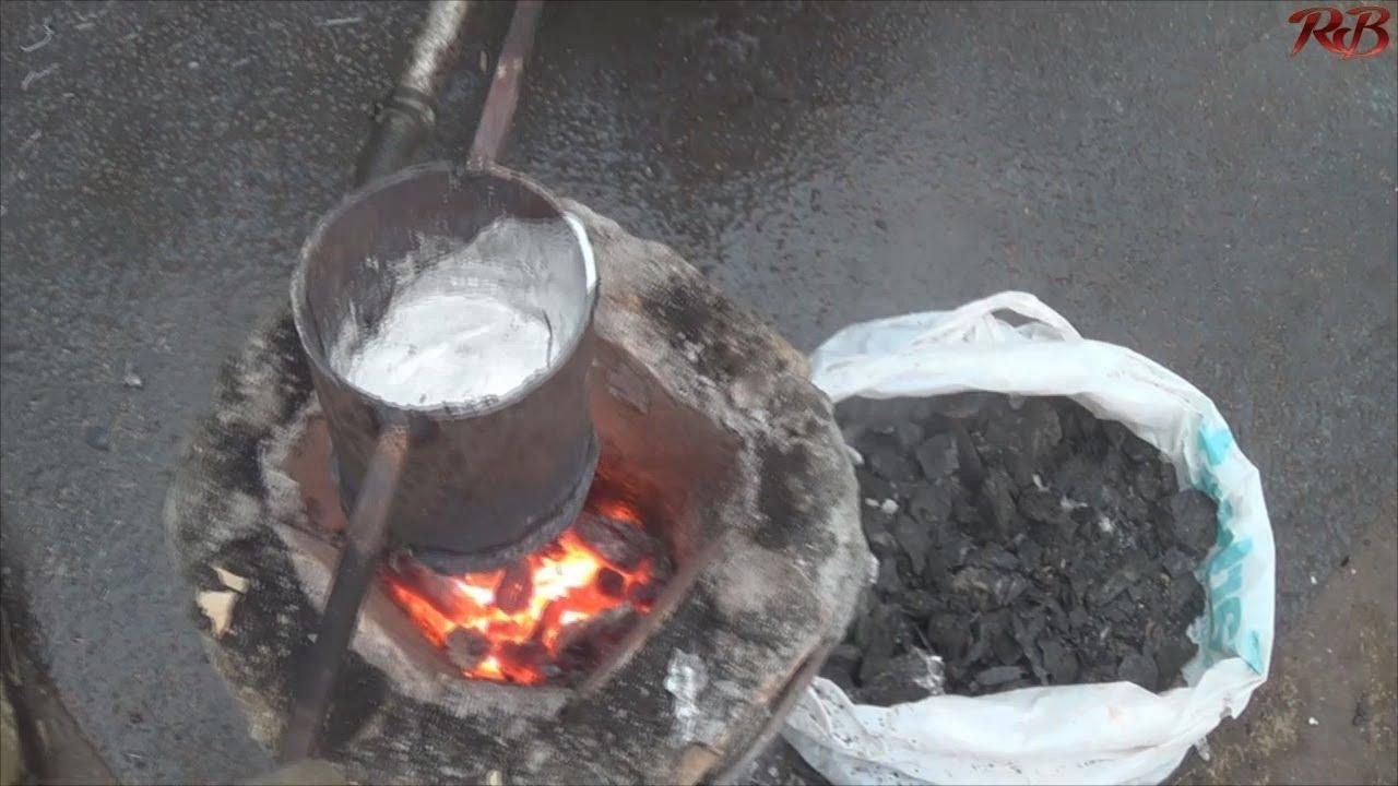 Как в домашних условиях плавить металл в 111