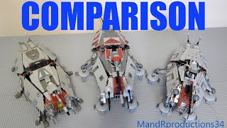 LEGO Star Wars Comparison - AT-TE (4482, 7675, 75019)