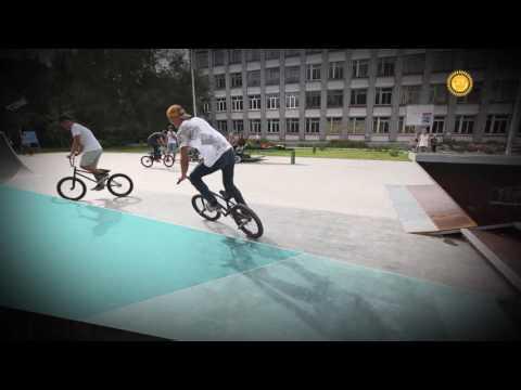 Скейт-парк «SkatePark Time» для занятий скейтбордингом и велоспортом ВМХ.