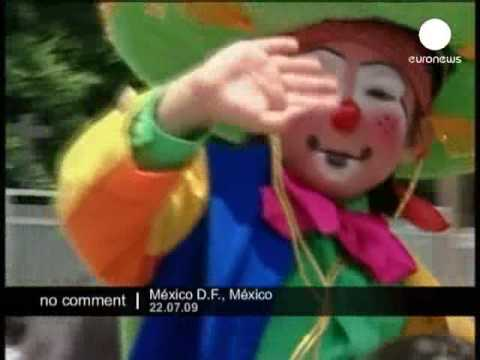 Clown pilgrimage in Mexico