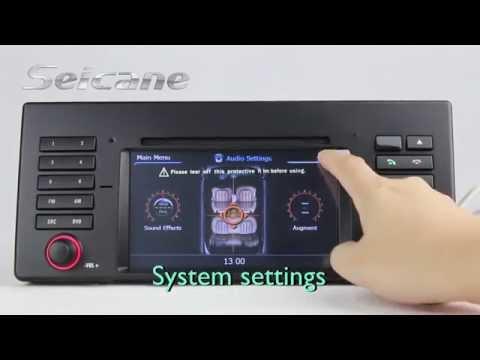 BMW E39 520d 525d 530d Sat Nav In Dash DVD Player with Analog TV 3G WIFI AV In/O