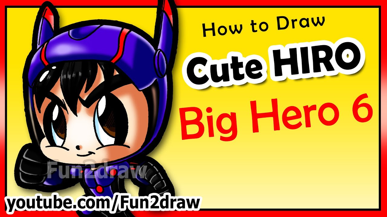 Cartoon Hero Drawing How to Draw Disney Big Hero 6